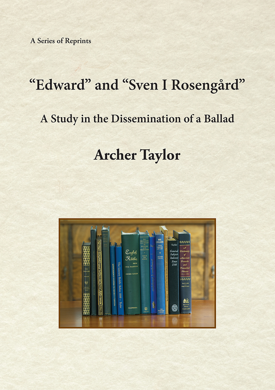 """Edward"" and ""Sven I Rosengård"": A Study in the Dissemination of a Ballad"
