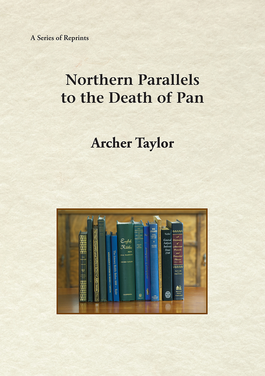 Northern Parallels to the Death of Pan